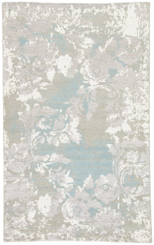 Jaipur Living Adina Hand-Knotted Floral Gray/ White Area Rug (8'X11')
