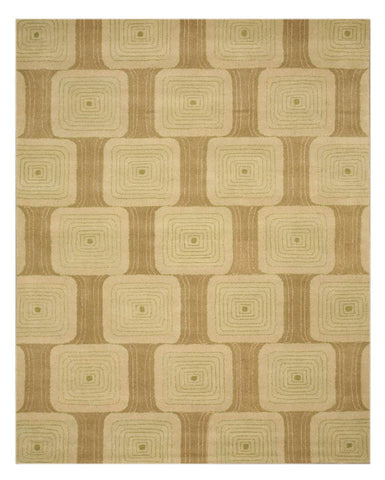 Hand-tufted Wool Brown Transitional Geometric Jerome Rug
