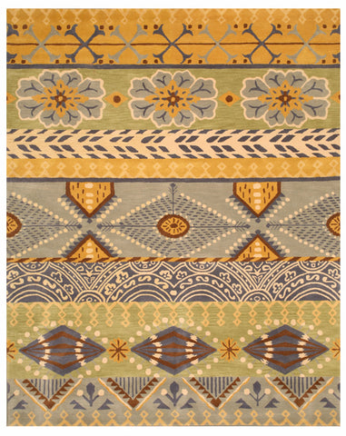 Hand-tufted Wool Yellow Transitional Floral Nargess Rug