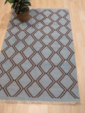 Blue Transitional Indoor/Outdoor Kilim Rug