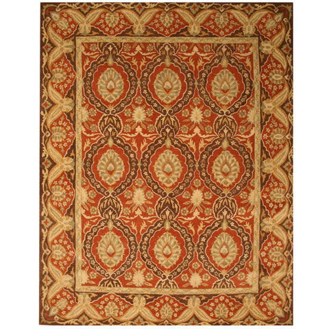 Hand-tufted Wool Red Traditional Oriental Khyber Rug
