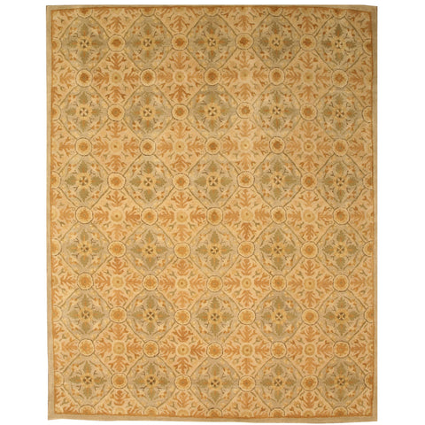 Hand-tufted Wool Ivory Traditional Oriental Kabul Rug