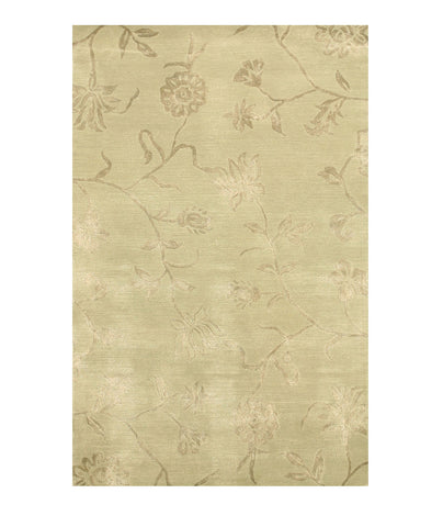 Hand-tufted Wool & Viscose Green Transitional Floral Beatrice Rug