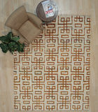 Hand-tufted Wool Brown Transitional Transitional Wiled Tufted Rug