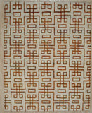 Handknotted Wool Beige Traditional Geometric Modern Moroccan Rug