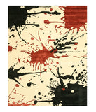 Hand-tufted Wool & Viscose Ivory Contemporary Abstract Noho Rug