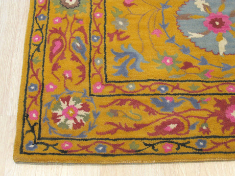 Yellow Traditional Suzani Rug