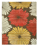 Hand-tufted Wool & Viscose Brown Transitional Floral Sunflower Rug