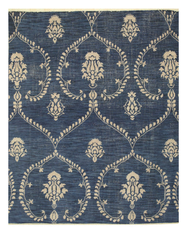 Hand-knotted Wool Blue Traditional Oriental Royal Rug