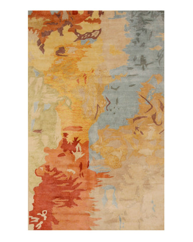 Hand-tufted Viscose Contemporary Abstract Palermo Rug