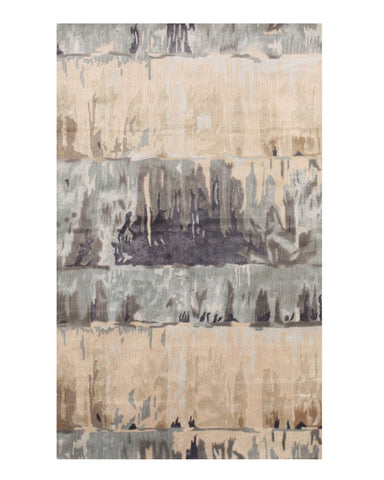 Hand-tufted Wool/Viscose Green Contemporary Abstract Palermo Rug