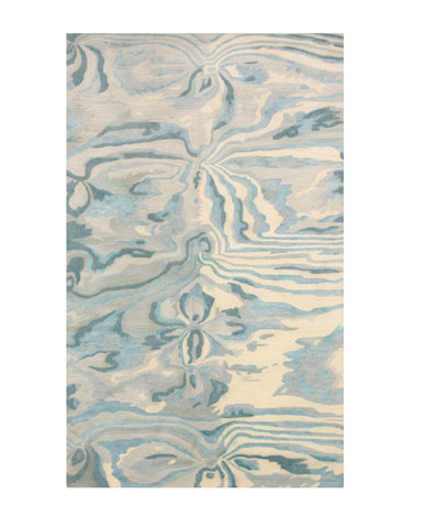 Hand-tufted Wool/Viscose Blue Contemporary Abstract Palermo Rug