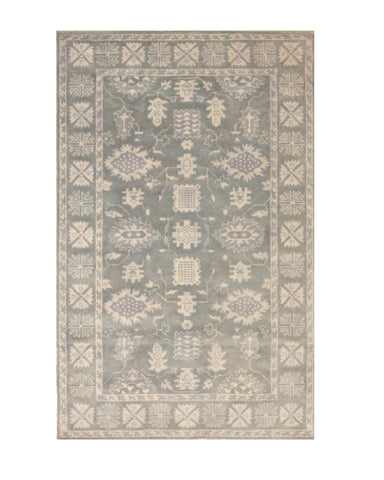 Hand-tufted Wool Gray Traditional Oriental Overdyed Rug