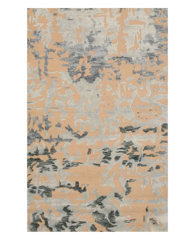 Hand-tufted Bamboo Silk Blue Contemporary Abstract Bamboo Silk Picasa Rug