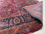 Red Traditional Mashad Rug, 11' x 16'4