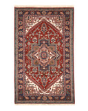 Hand-knotted Wool Red Traditional Geometric Heriz Rug