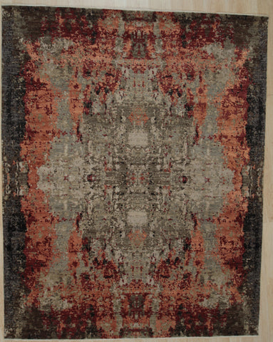 Hand-knotted Wool GRAY Contemporary Abstract Galaxy Rug