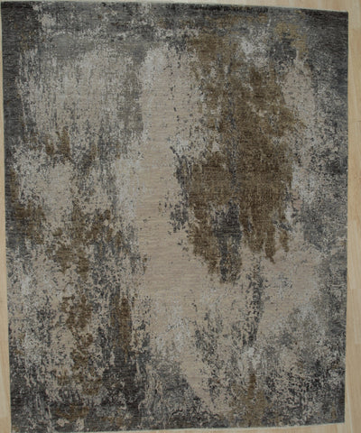 Hand-knotted Wool LT. GRAY Contemporary Abstract Galaxy Rug