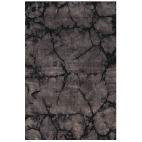Handmade Wool Gray Contemporary Abstract Dip Dyed Rug