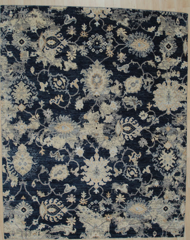 Hand-knotted Wool D.BLUE Contemporary Abstract Galaxy Rug