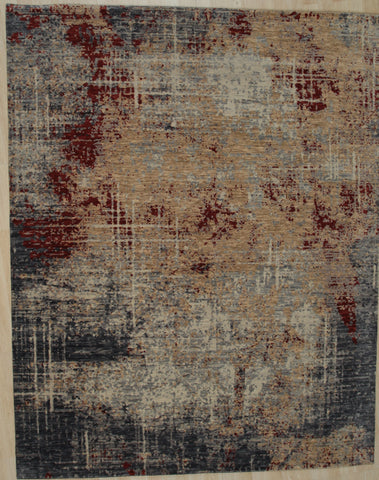 Hand-knotted Wool D.GRAY Contemporary Abstract Galaxy Rug
