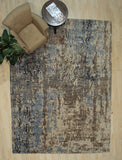 Hand-tufted Wool Green Transitional Transitional Wiled Tufted Rug
