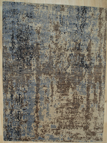 Hand-knotted Wool IVORY Contemporary Abstract Galaxy Rug