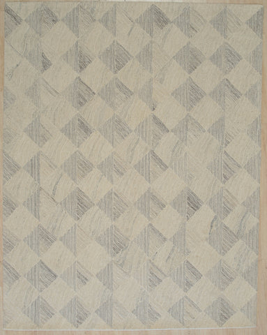 Hand-tufted Wool MULTY GREY Transitional Geometric Modern Tufted Rug