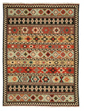 Hand-knotted Wool Multicolored Traditional Geometric Kyle Kilim Rug