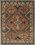 Handknotted Wool M.BLUE Traditional Medallion Traditional Knot Rug