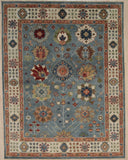 Handknotted Wool G.BLUE / IVORY Traditional All Over Traditional Knot Rug