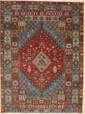 Handknotted Wool RED Traditional Medallion Traditional Knot Rug