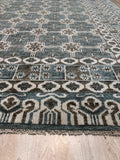 Handknotted Wool GREY Traditional Geometric Oushak Rug