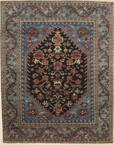 Handknotted Wool S.GREEN / S.BROWN Traditional Traditional Traditional Knot Rug