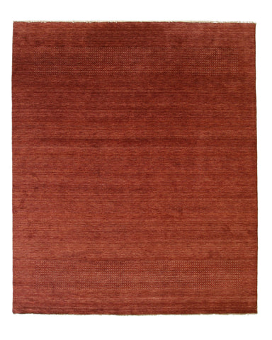 Handmade Wool Red Transitional Solid Gabbeh Rug