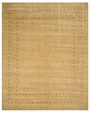 Handmade Wool Beige Traditional Tribal Lori Baft Rug