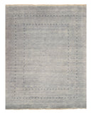 Handmade Wool Gray Transitional Solid Lori Baft Rug