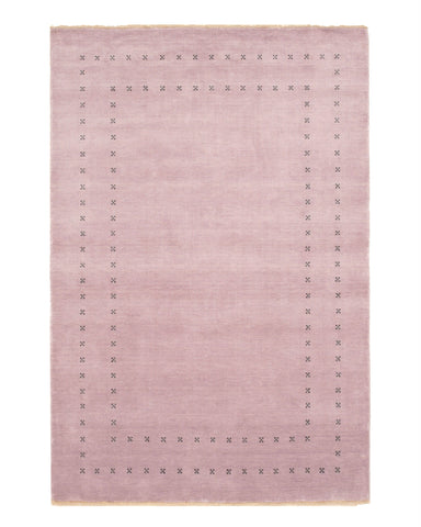 Handmade Wool Purple Transitional Solid Lori Baft Rug