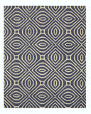 EORC ME101BL Hand-tufted Wool Marla Rug, 9'6 x 13'6, Blue