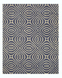 Hand-tufted Wool Blue Contemporary Geometric Marla Rug