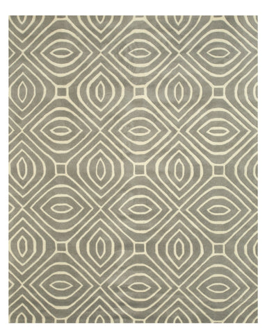 EORC ME102GY Hand-tufted Wool Marla Rug, 9'6 x 13'6, Gray