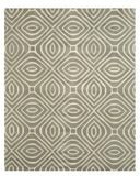 Hand-tufted Wool Gray Contemporary Geometric Marla Rug