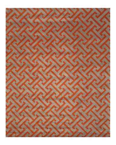 Hand-tufted Wool Gray Contemporary Geometric Harrison Rug