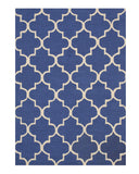 Hand-tufted Wool Blue Traditional Trellis Moroccan Rug
