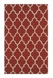 Hand-tufted Wool Red Traditional Trellis Moroccan Rug