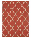 Hand-tufted Wool Rust Traditional Trellis Moroccan Rug