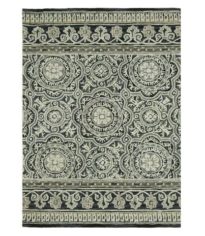 Hand-tufted Wool Blue Transitional Floral Claire Rug