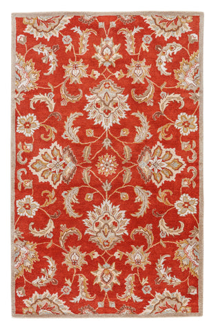 Jaipur Living Abers Handmade Floral Orange/ Tan Area Rug (12'X18')