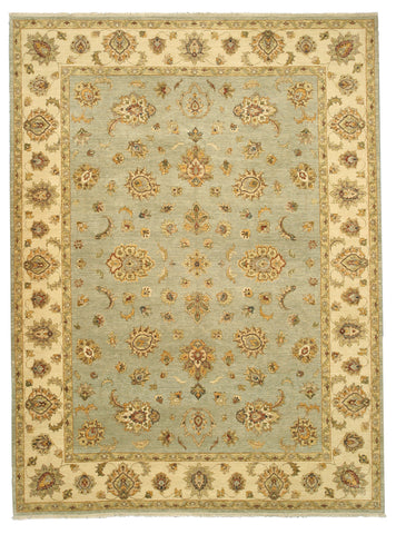 Hand-knotted Wool Blue Traditional Oriental Agra Rug