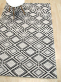 Gray Contemporary Raga Rug